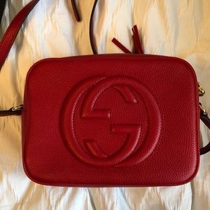 Gucci Bags - Gucci Soho Disco Bag in Red